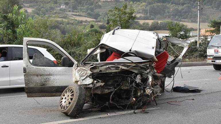 Samsunda feci kaza Bu arabadan sağ çıktılar