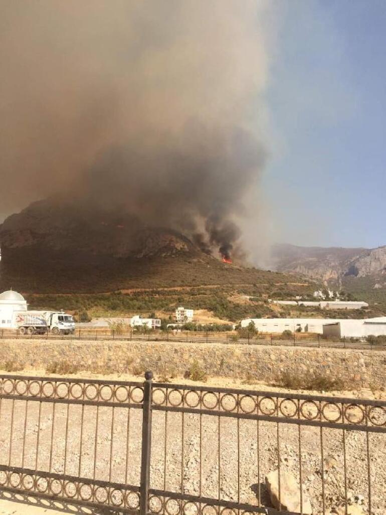 Mersinde çıkan orman yangını kontrol altına alındı