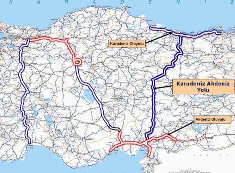 Karadeniz-Akdeniz Otoyolunda sona doğru