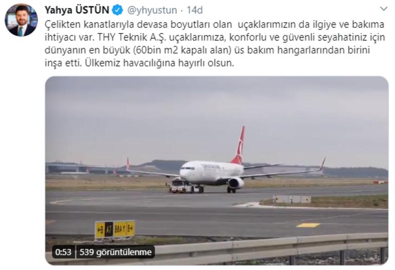 Türkiye'nin en büyük uçak üs bakım hangarlarının açılışı yapıldı