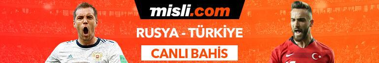 Rusya - Türkiye maçı Tek Maç ve Canlı Bahis seçenekleriyle Misli.com'da