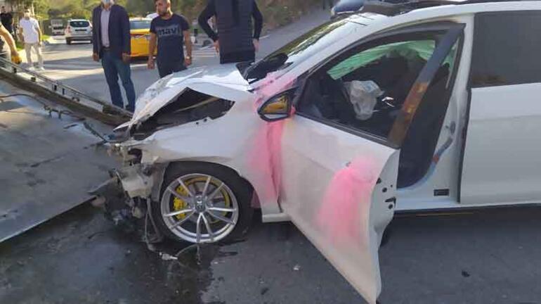 İstanbulda dehşet anları Önce gelin arabasına sonra otomobile çarptı