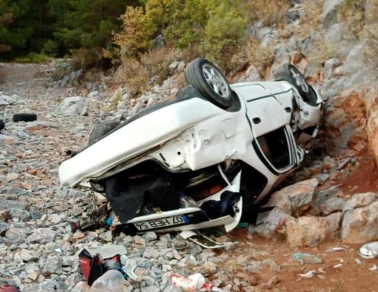 Otomobil uçuruma yuvarlandı 1 kişi hayatını kaybetti