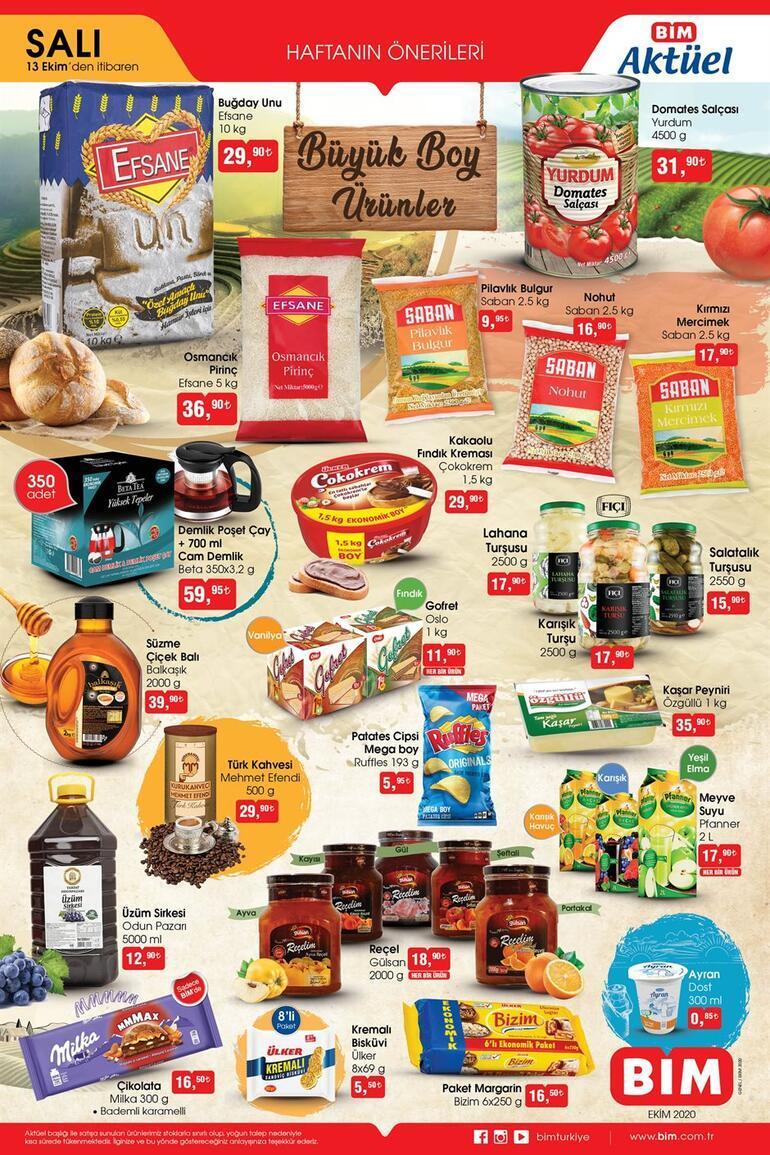 BİM aktüel kataloğunda yarın hangi indirimli ürünler var BİM 13 Ekim aktüel ürünler kataloğu