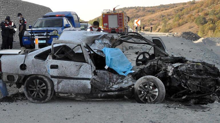Yozgatta TIR ile otomobil çarpıştı: 1 ölü, 1 yaralı