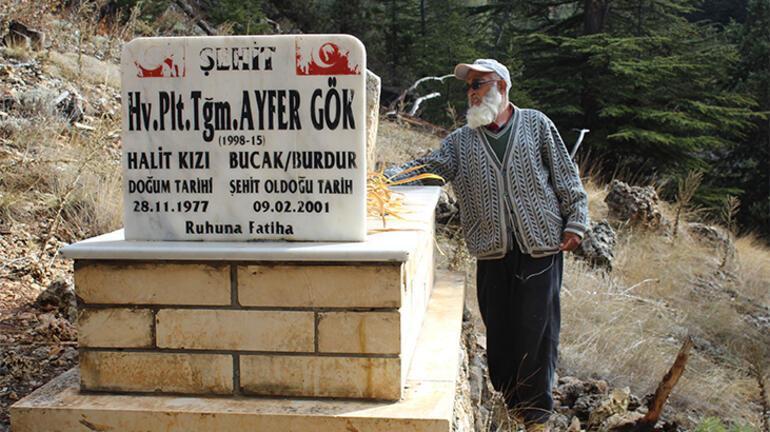 Türkiyenin ilk şehit kadın pilotu Uçağının düştüğü yere ikinci mezar