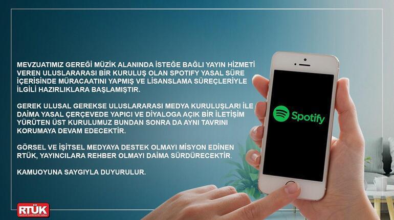 RTÜKten son dakika Spotify açıklaması