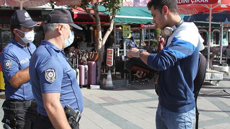 Maskesini takmayan gencin polise verdiği cevap pes dedirtti