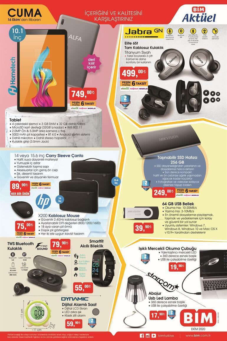 BİM aktüel kataloğunda yer alan ürünler satışa çıktı BİMde bu hafta hangi indirimli ürünler var