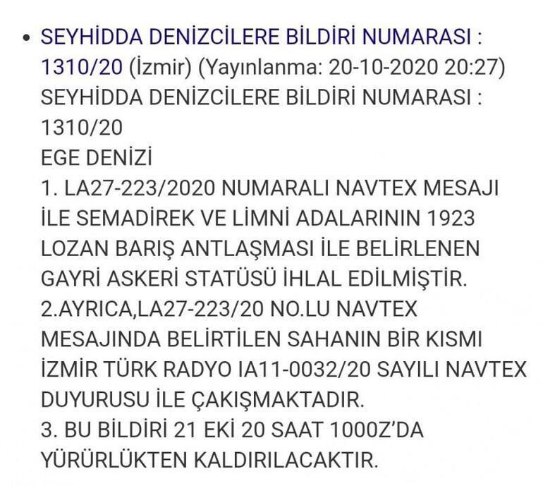 Son dakika... Türkiyeden 2 yeni NAVTEX ilanı