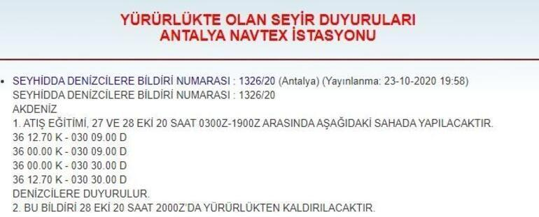 Son dakika: Türkiyeden yeni NAVTEX ilanı