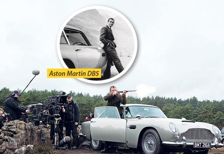Bond'un 50 yılına damga vuran otomobiller
