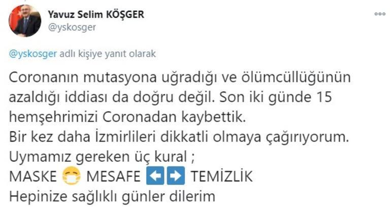 Son dakika... İzmir Valisi duyurdu 20 gün öncesine göre koronavirüs vaka sayıları 3,5 kat arttı