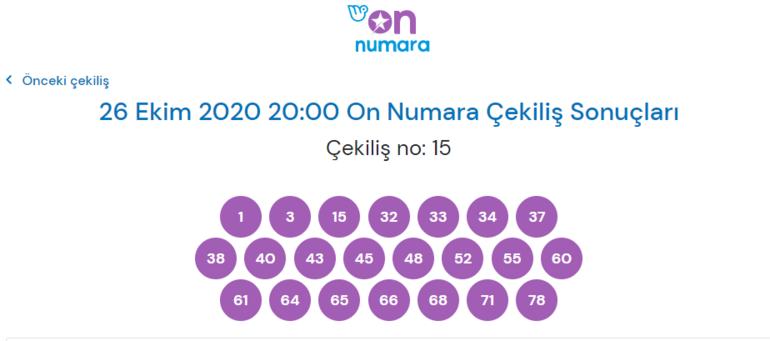 26 Ekim On Numara sonuçları  10 Bilen olmadı, 9 bilen 47 kişi oldu