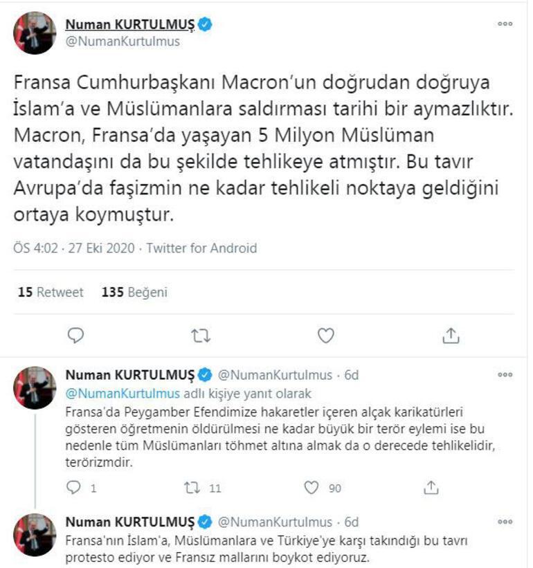 AK Partili Kurtulmuş: Macronun İslama saldırması tarihi bir aymazlıktır