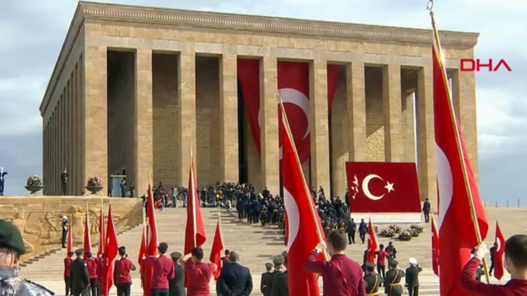Son dakika... Cumhuriyetin 97. yıldönümü Devlet erkanı Anıtkabirde