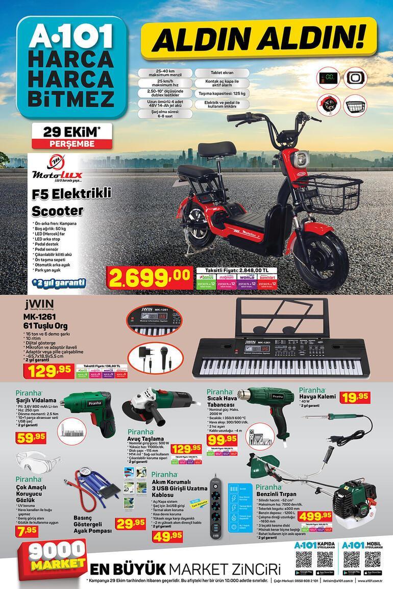 A101 aktüel ürünler kataloğunda bugün hangi indirimli ürünler var 29 Ekim A101 aktüel ürünler kataloğu...