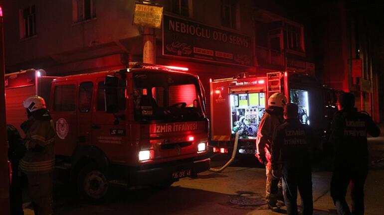 İzmirde korkutan yangın Ekipler oraya koştu