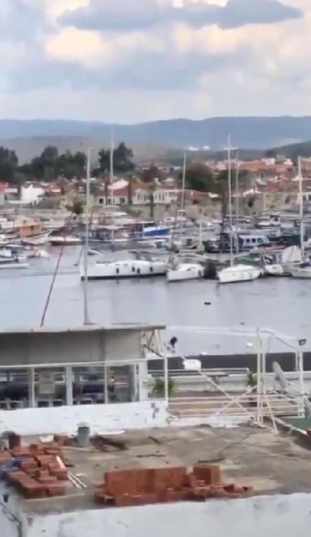 Son dakika İzmirde tsunami paniği