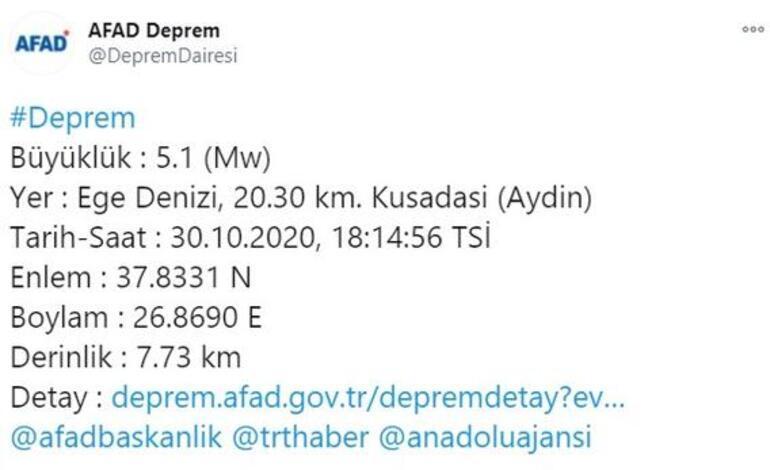 Son depremler listesi İzmirde kaç büyüklüğünde deprem oldu İşte son dakika gelişmeleri...