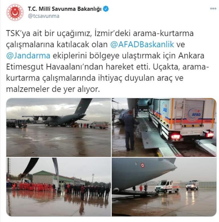 MSB duyurdu: İzmire hareket etti