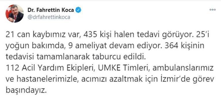 İzmirde can kaybı 21e yükseldi