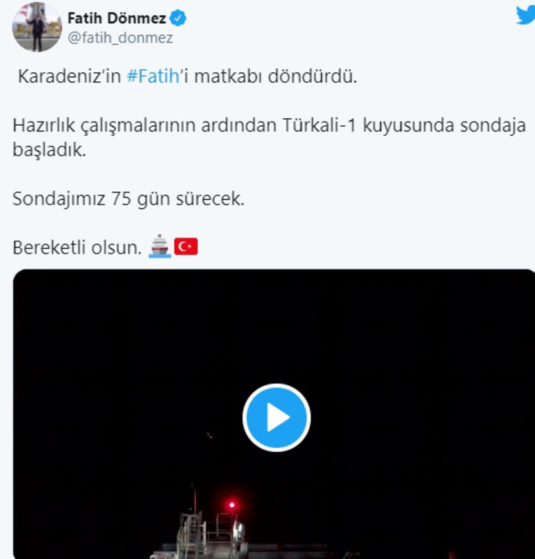 Son dakika: Karadenizde Fatihin matkabı dönmeye başladı