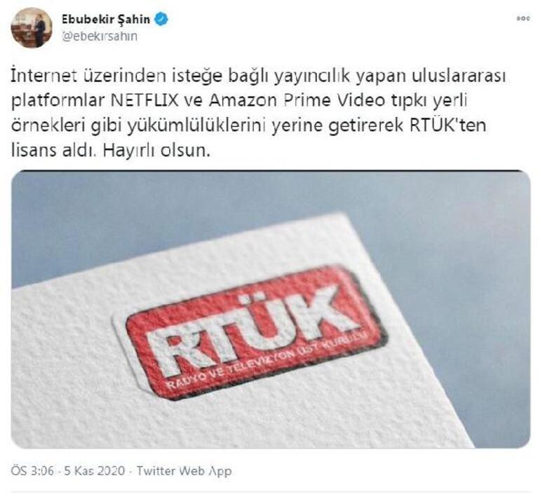RTÜKten Netflix ve Amazon Prime Video açıklaması