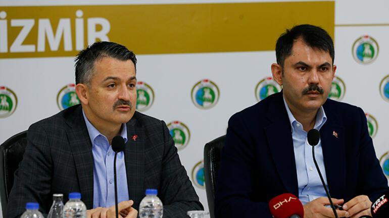 Son dakika... Bakanlar Kurum ve Pakdemirliden İzmir depremi açıklaması