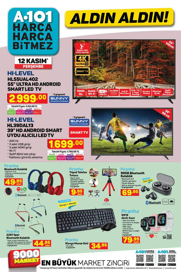 Bugün satışa çıktı A101 indirimli ürünler kataloğunda bu hafta neler var A101 12 Kasım kataloğu...