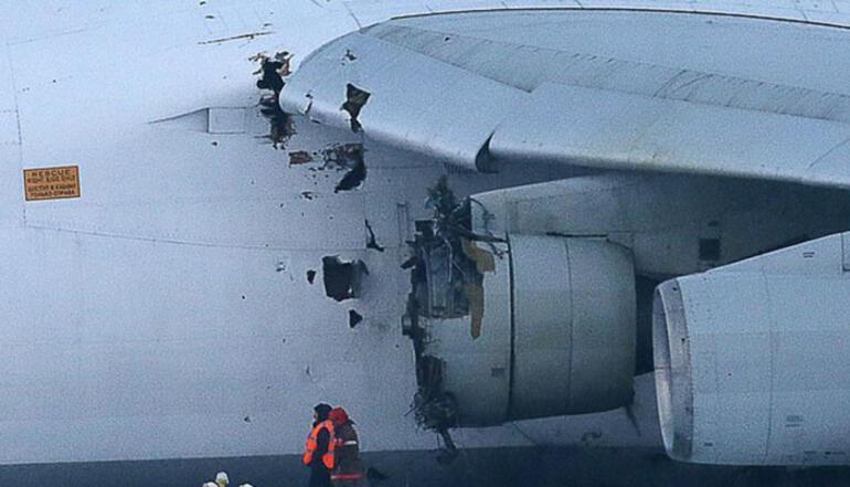 Rusyada kargo uçağı acil iniş yaptı