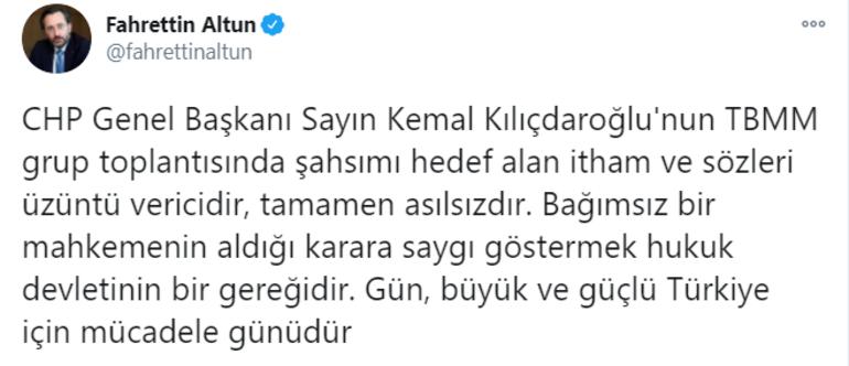 İletişim Başkanı Fahrettin Altundan Kılıçdaroğluna cevap