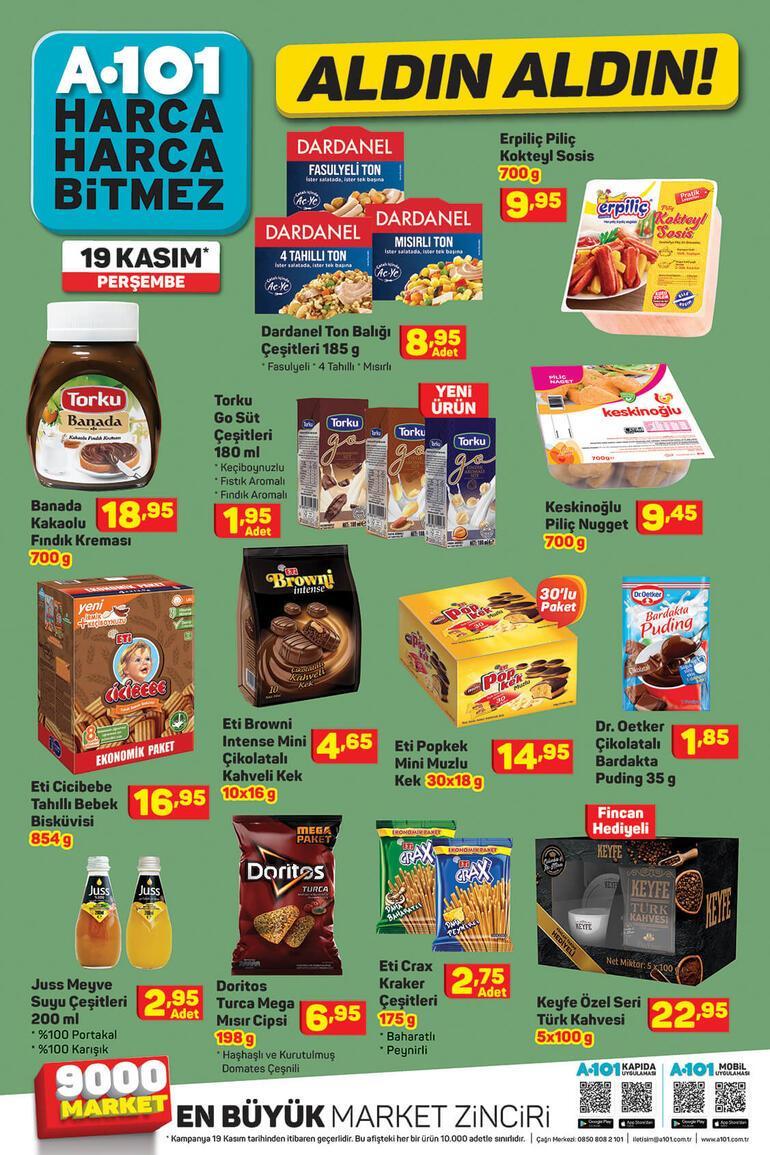 A101 aktüel kataloğunda yer alan ürünler satışa çıktı 19 Kasım A101 aktüel kataloğunda bu hafta hangi ürünler var