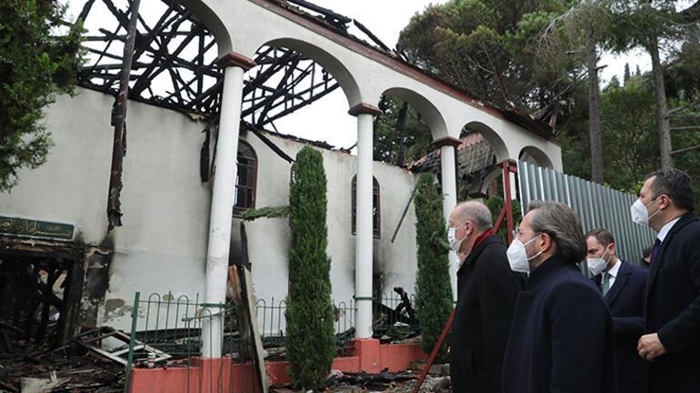 Son dakika... Cumhurbaşkanı Erdoğandan Vaniköy Camisine ziyaret