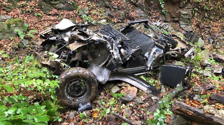 400 metreden uçuruma yuvarlanan kamyonetten kurtulan baba-oğul, kazayı anlattı