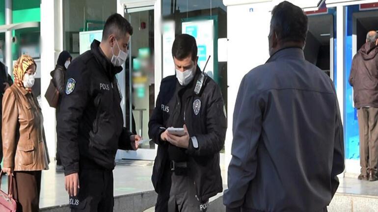 Koronavirüs temaslı kişi bankaya girmeye çalışırken yakalandı