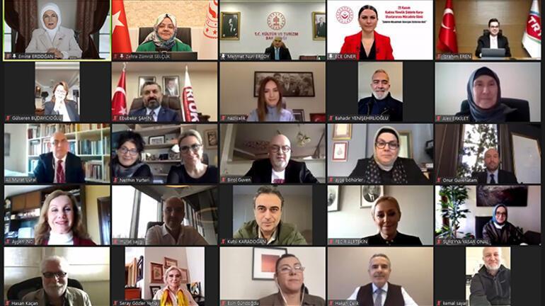 Emine Erdoğan, Şiddetle Mücadelede Televizyon Dizilerinin Rolü programında konuştu