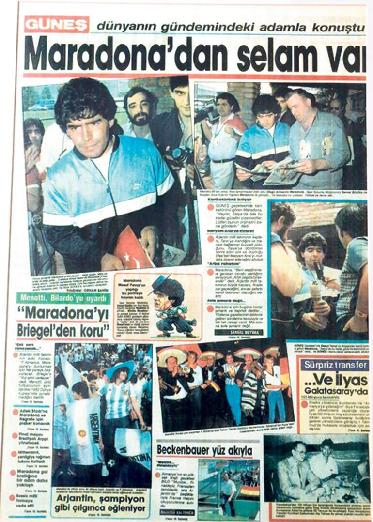 Bir karikatüre Maradonadan röportajı kaptık
