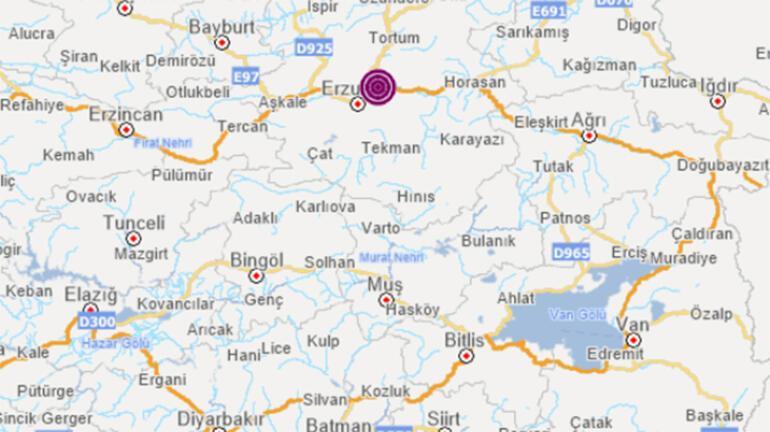 Son dakika Erzurumda korkutan deprem