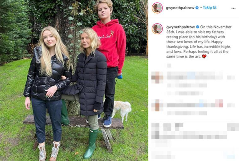 Gwyneth Paltrow babasının küllerini ziyaret etti