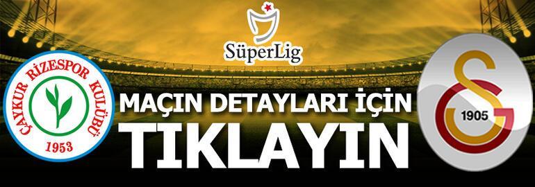 Çaykur Rizespor - Galatasaray: 0-4