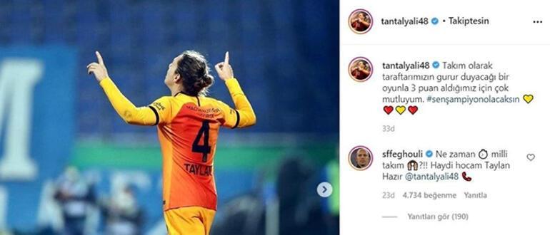 Son dakika - Galatasarayda Sofiane Feghouliden Şenol Güneşe Taylan Antalyalı çağrısı