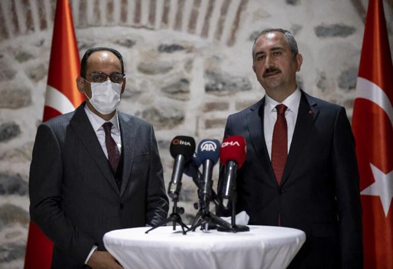 Bakan Gül ve Cumhurbaşkanlığı Sözcüsü Kalın, azınlık cemaatlerinin temsilcileriyle buluştu