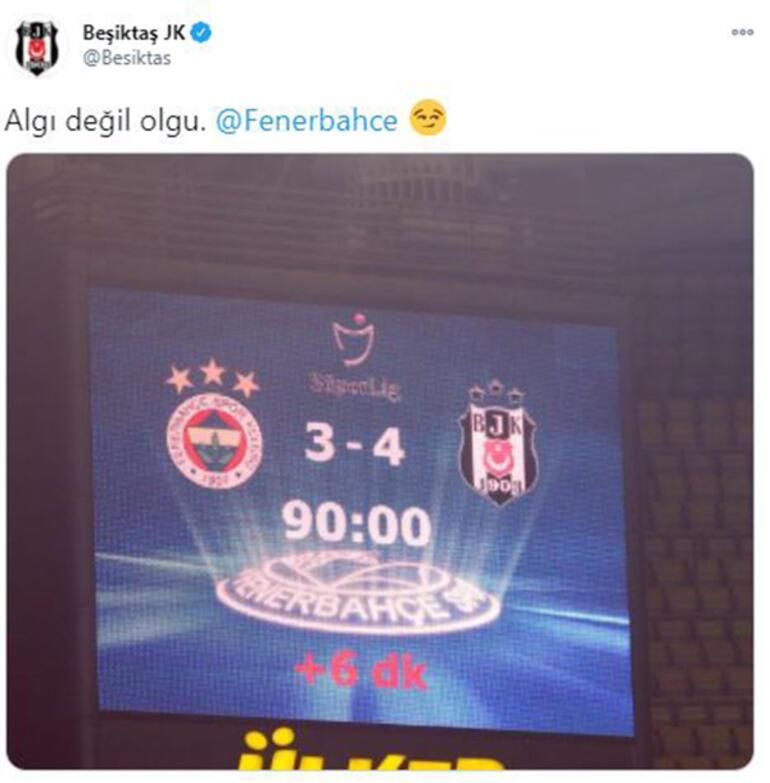 Son dakika - Beşiktaştan derbi sonrası imalı Fenerbahçe paylaşımı
