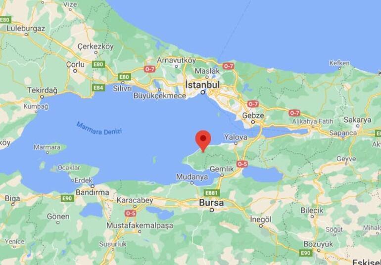 Son dakika Yalovada 3.2 büyüklüğünde deprem