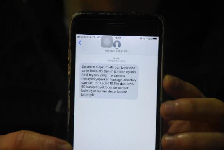 1551 adet sarı paralar bulundu mesajı atan dolandırıcı ile telefon konuşması kamerada