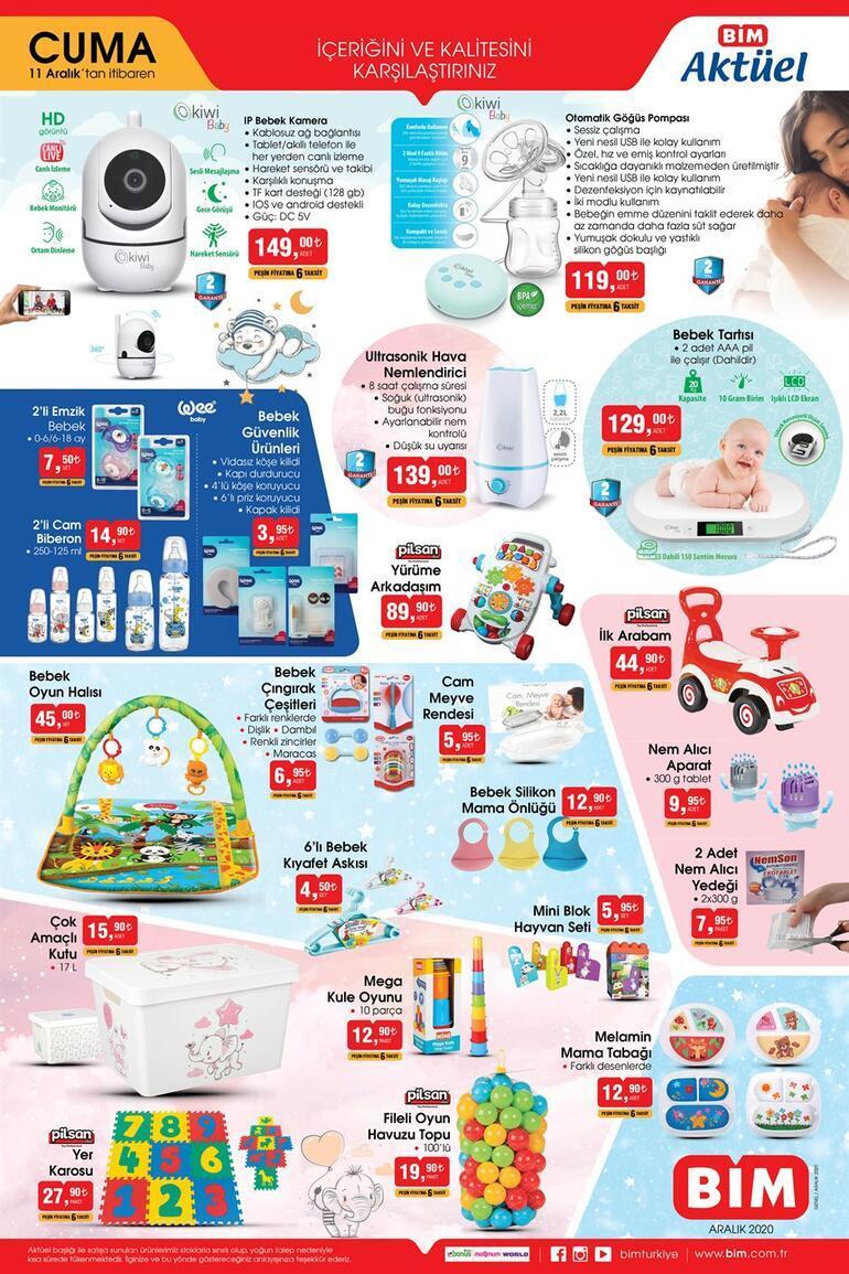 BİM aktüel kataloğunda yer alan anne-bebek ürünleri satışta BİMde bu hafta hangi ürünler var (11 Aralık)