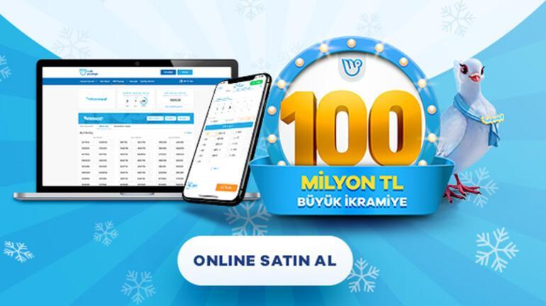 Milli Piyango Yılbaşı çekilişinde büyük ikramiye 100 milyon TL Biletler online platformda