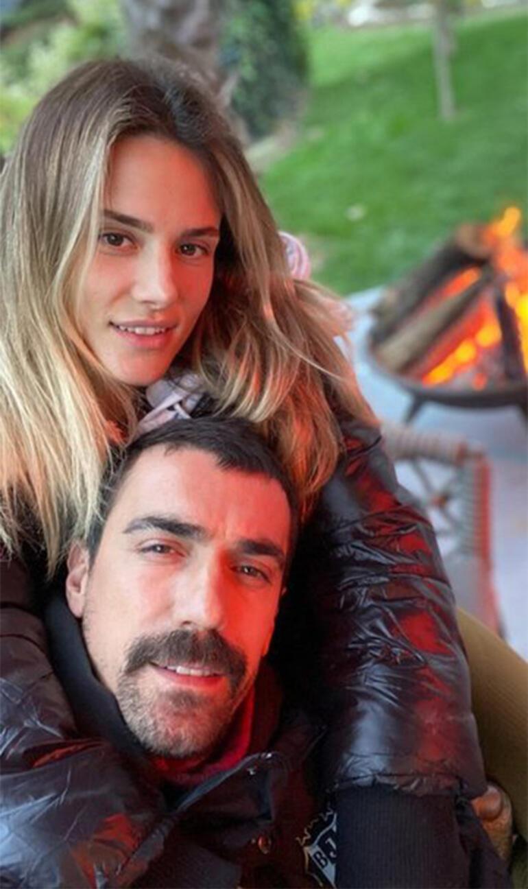 Mihre İbrahim çelikkol çiftinden Aşk Pozu Magazin Haberleri Milliyet