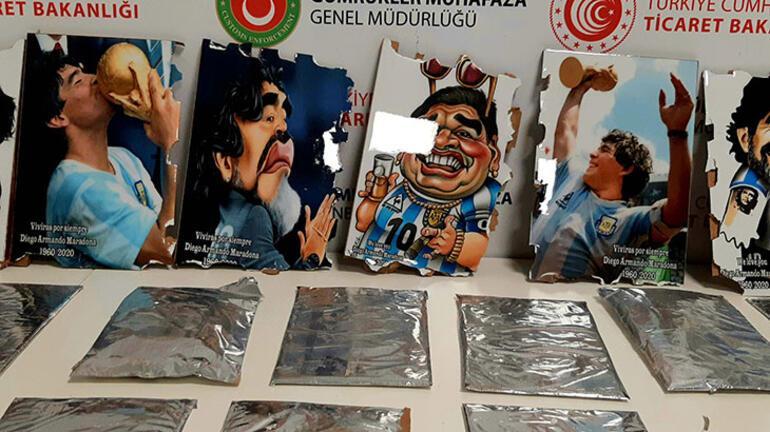 Maradona tablolarıyla geldi Değeri 2 milyon lira